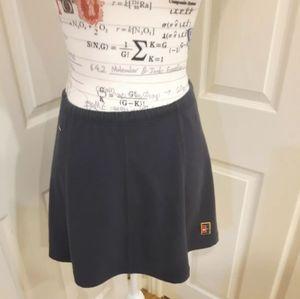 Nike Navy Blue Tennis Skirt with drawstring Size M